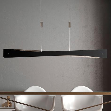 Lucande Lian LED-hængelampe, sort, alu