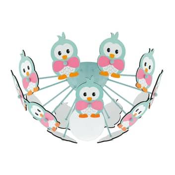 Lampa sufitowa Viki 2 z kolorowymi pingwinami