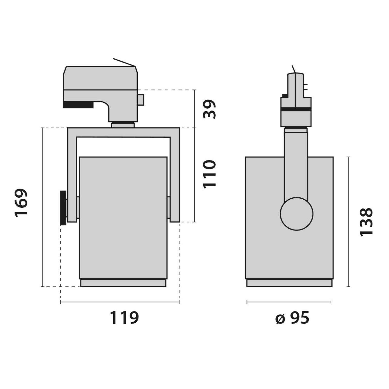 3-Phasen-Schienenstrahler AS425 LED Medium weiß ww