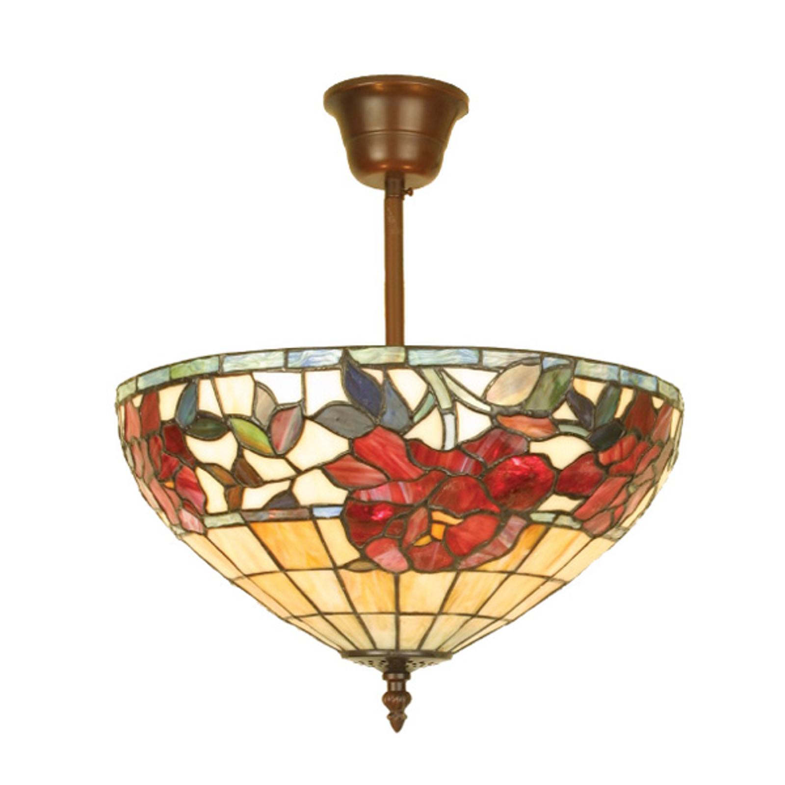 Lámpara de techo Finna de estilo Tiffany