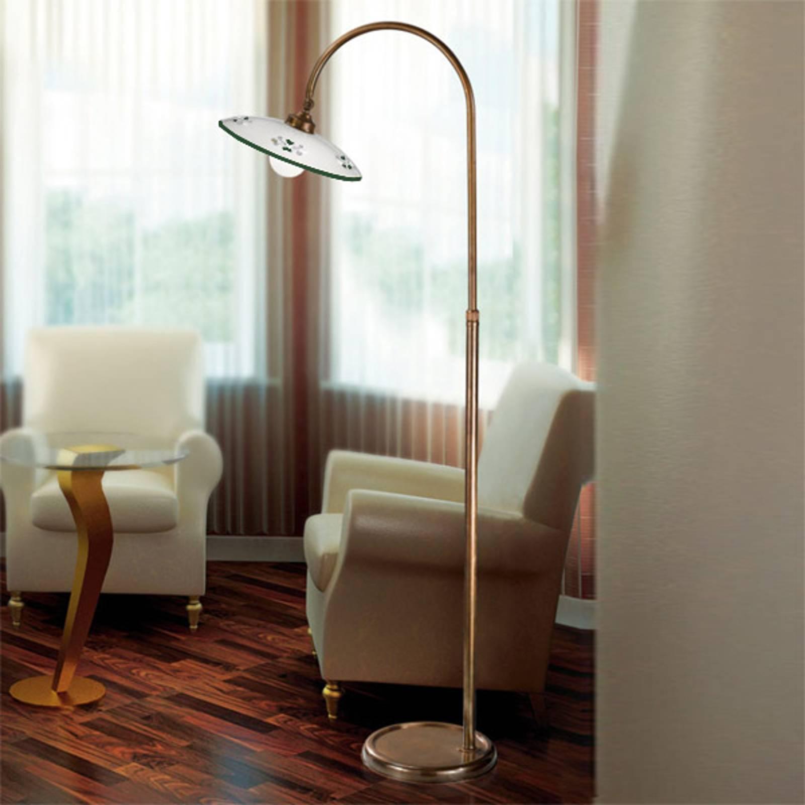 Traditionele vloerlamp Bassano groen