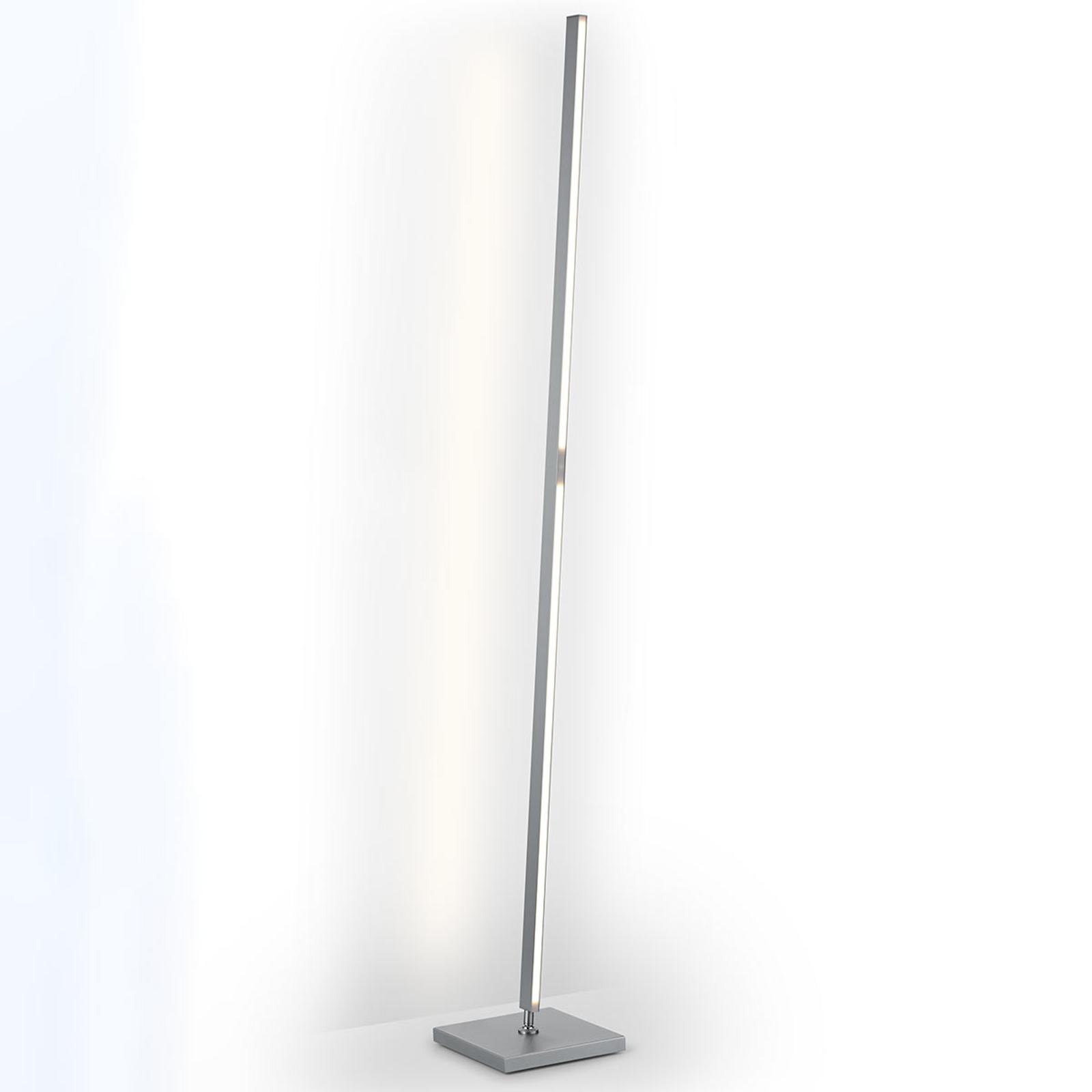 Prostoliniowa lampa stojąca LED Meli, na gesty