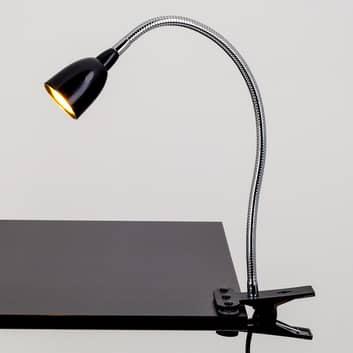 Rabea - lampa zaciskowa LED w czerni