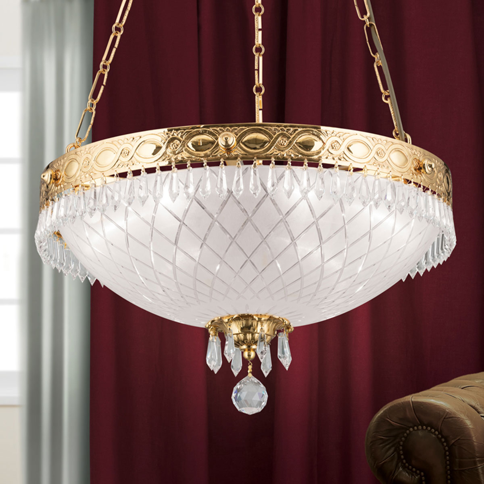 Hanglamp Empire Crystal goud