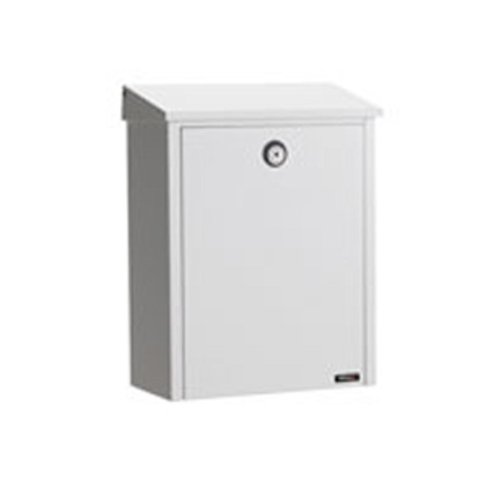 Jednoduchá poštovní schránka z oceli, bílá