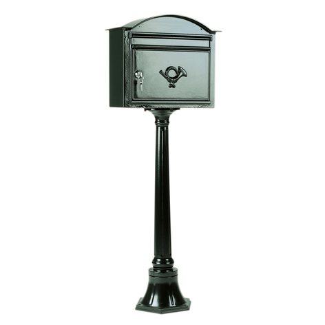 Ajaton B7-postilaatikko tummanvihreä
