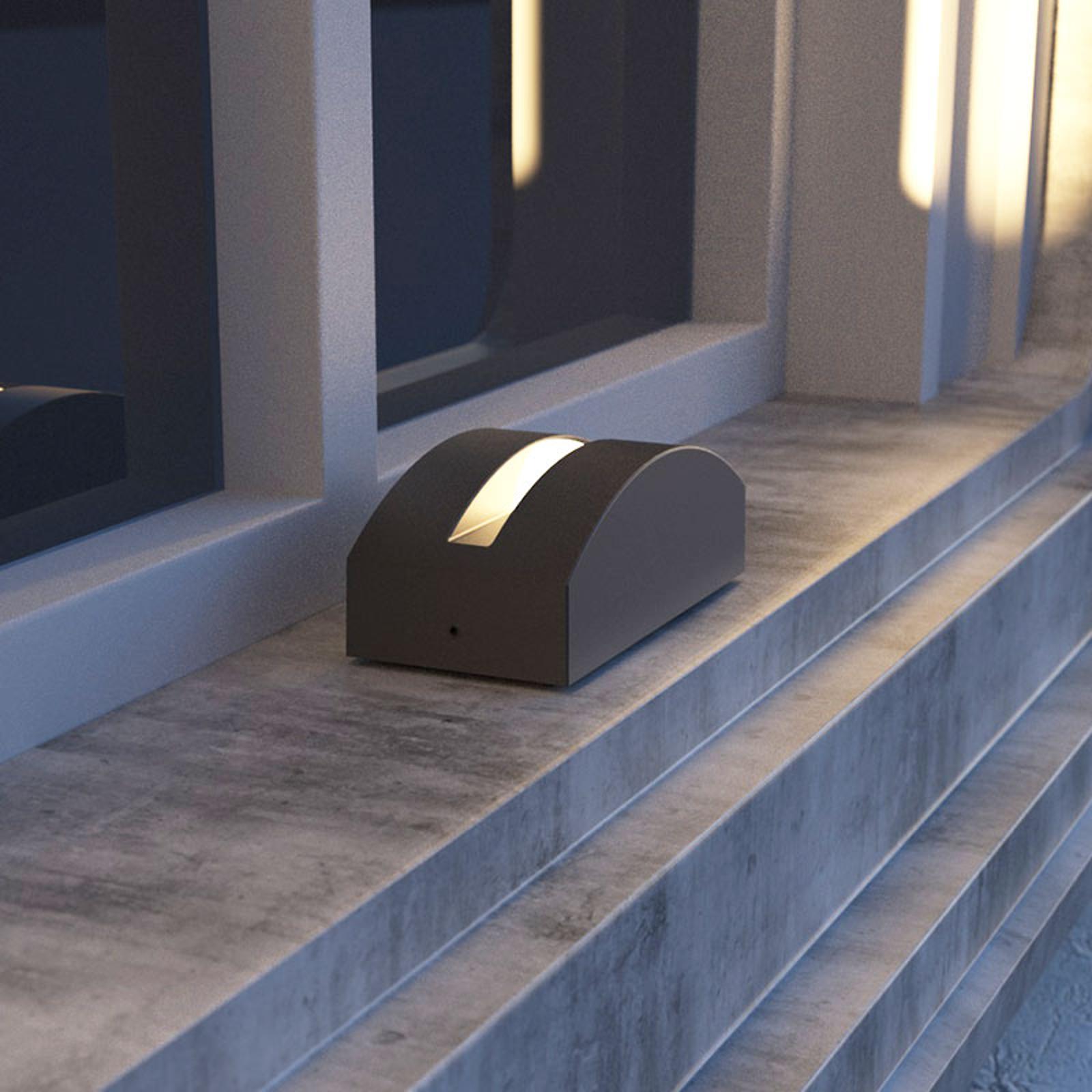 Lampa zewnętrzna LED Marka, aluminium, ciemnoszara