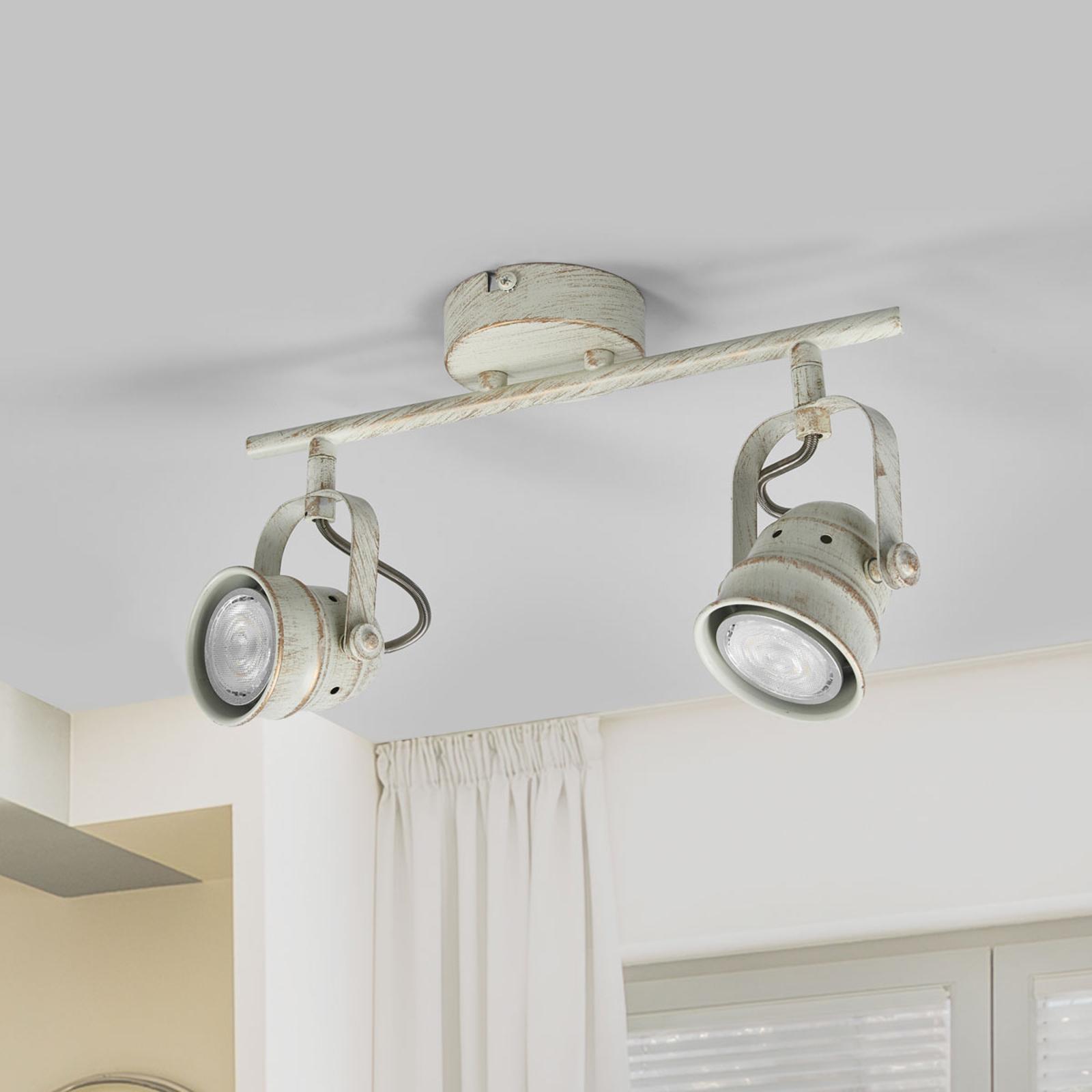2-flammige LED-Deckenlampe Leonor in Weiß