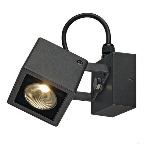 SLV Nautilus LED-Außenwandstrahler schwarz eckig
