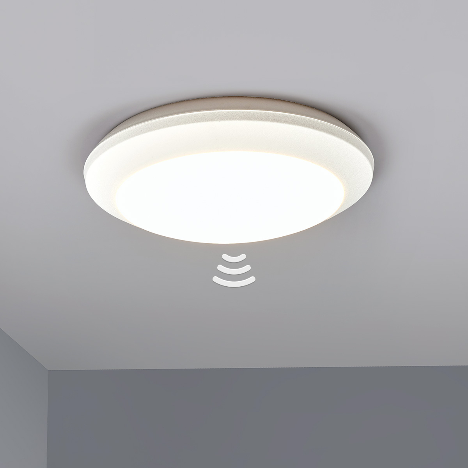 Sensor taklampe Umberta 2xE27 hvit
