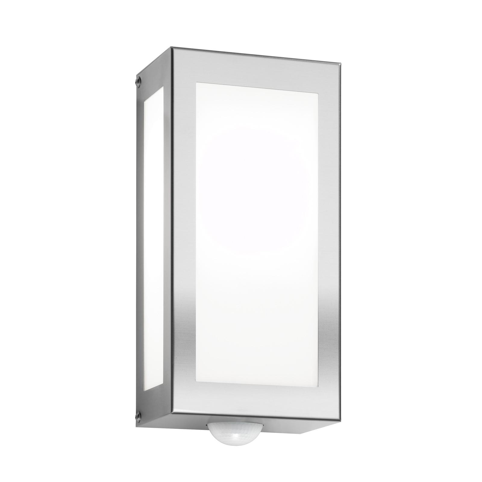 Utevegglampe Aqua Rain, rustfritt stål, sensor