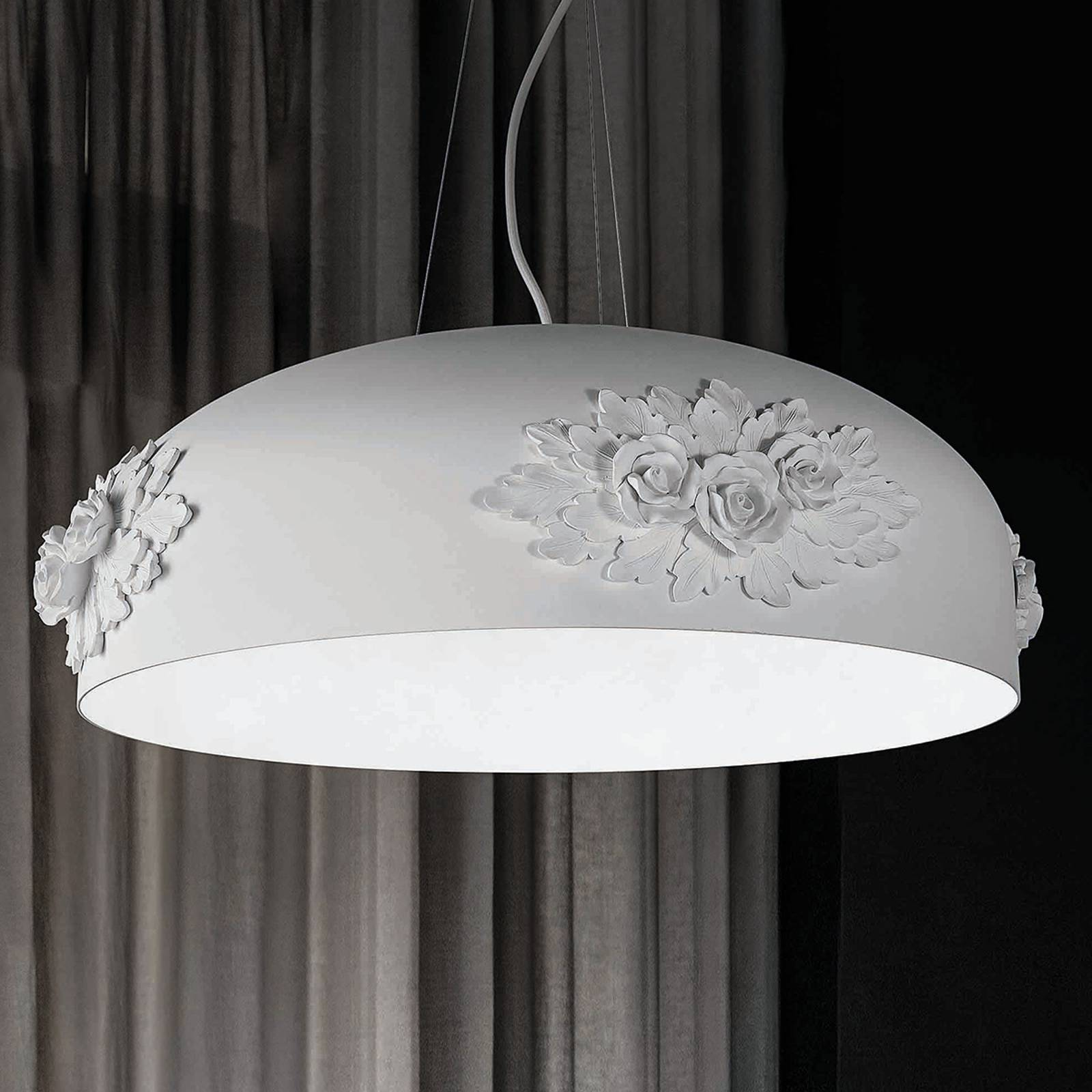 LED-Hängeleuchte Dame in Weiß, 65 cm