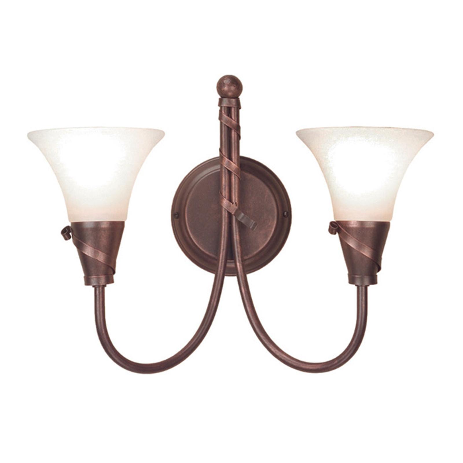 Lámpara de pared EMILY con pátina de cobre