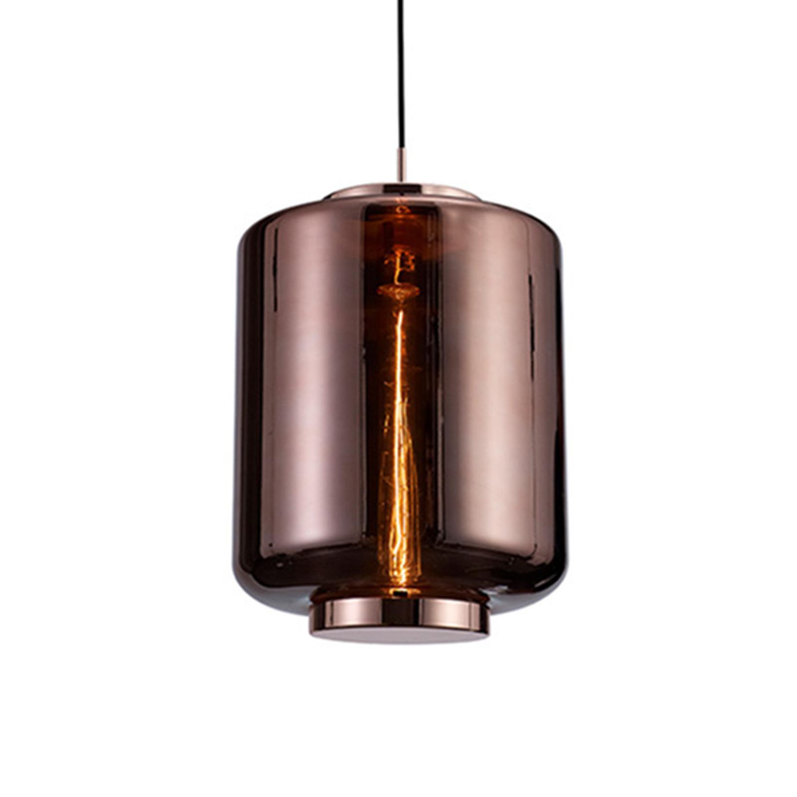 Jarras hengelampe av glass Ø 30 cm, kobber