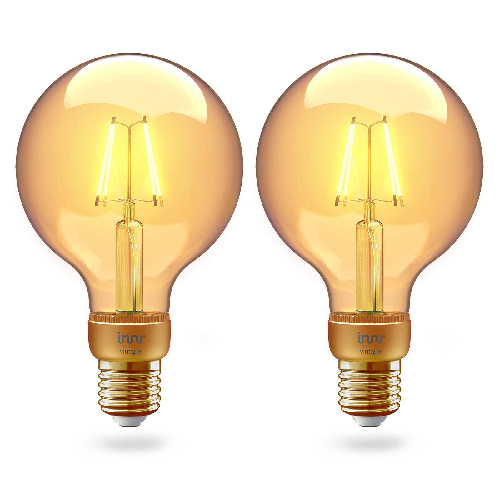 Innr LED-Globe E27 Filament 2.200K 4,2W gold 2er