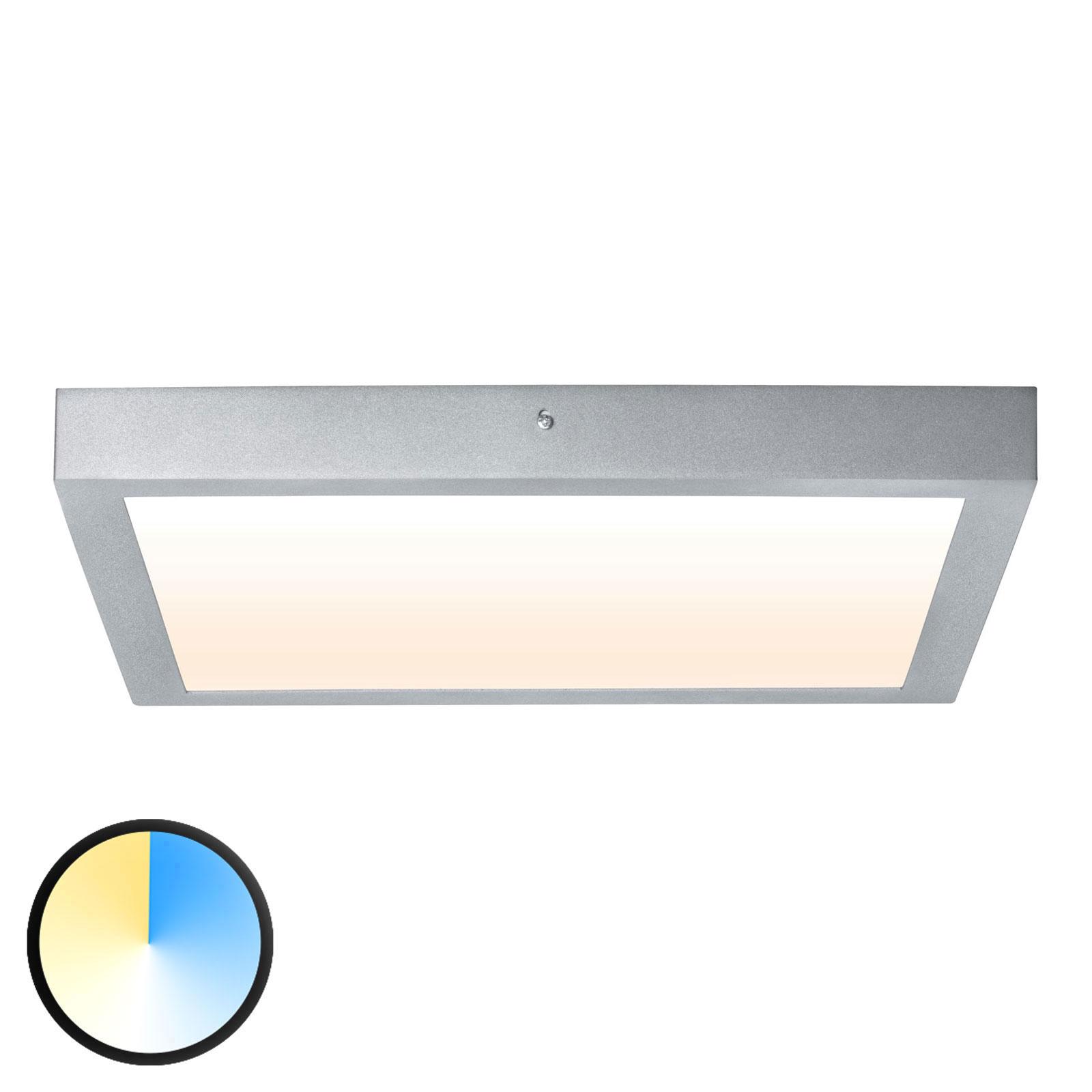 Paulmann Carpo LED plafondlamp chroom 40x40cm