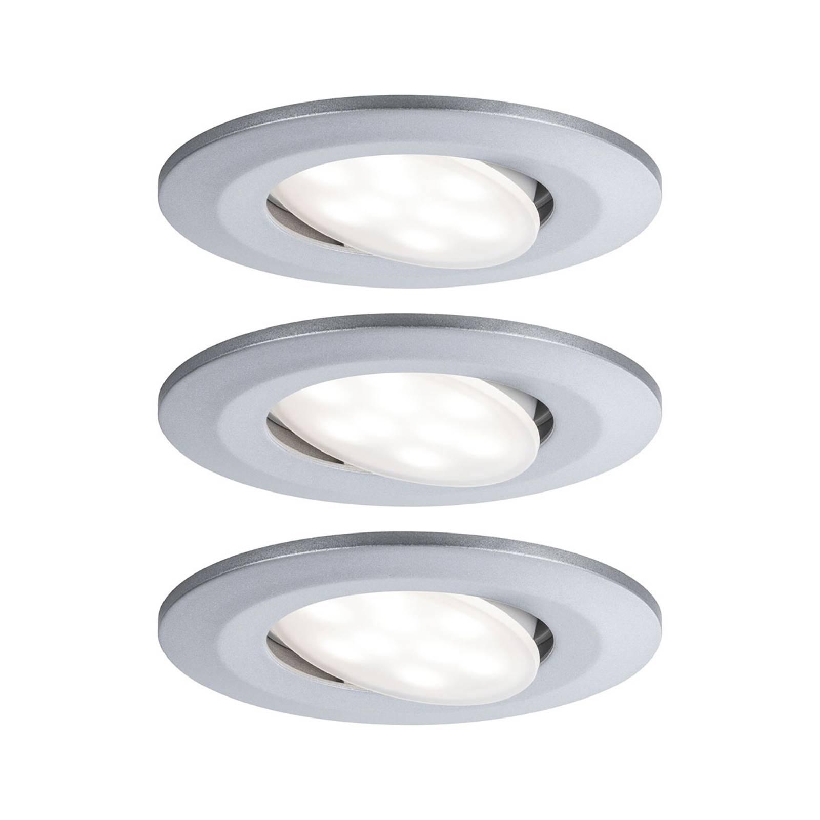 Paulmann LED buiten-inbouwspot Calla per 3, chroom