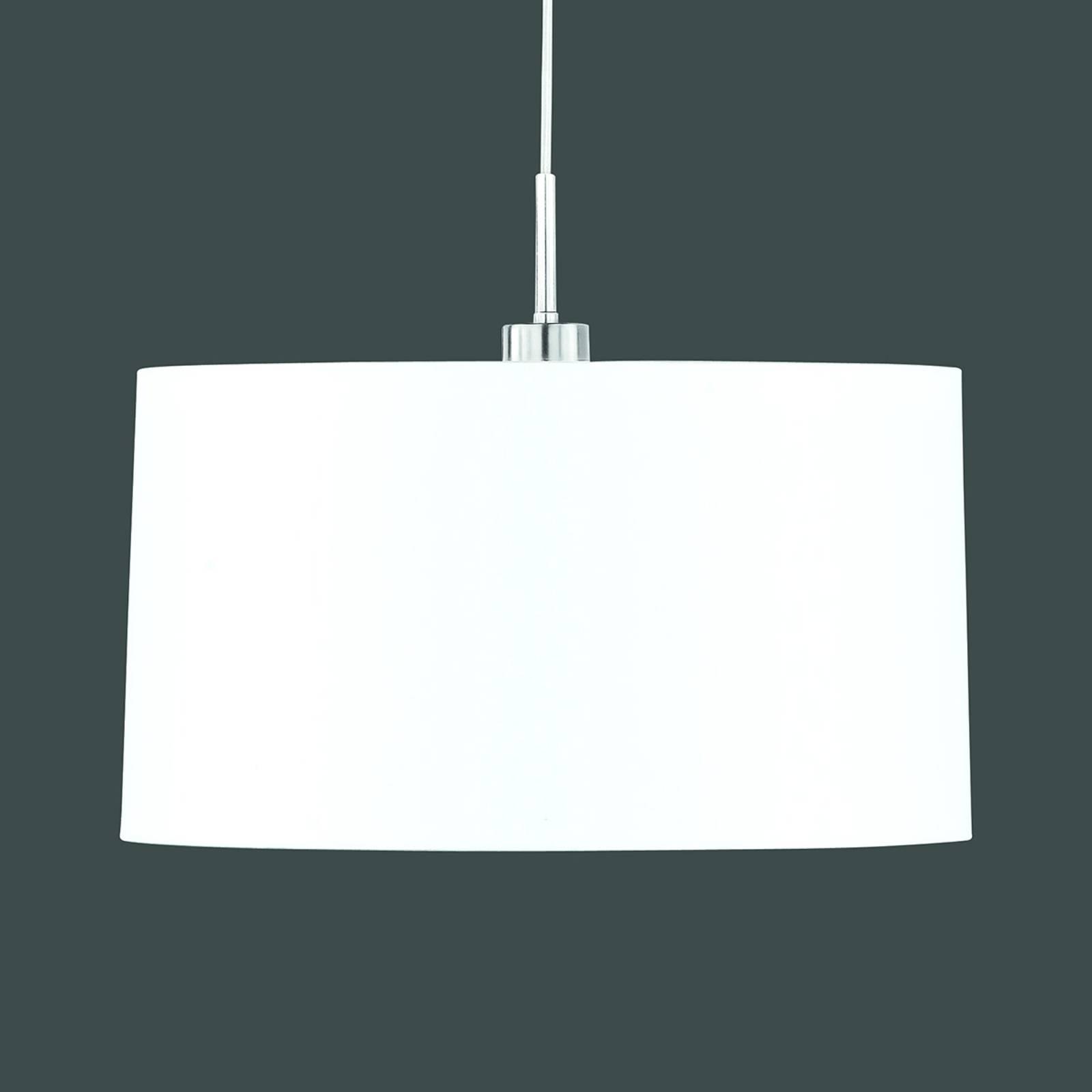 Hanglamp Loop met witte sits-kap