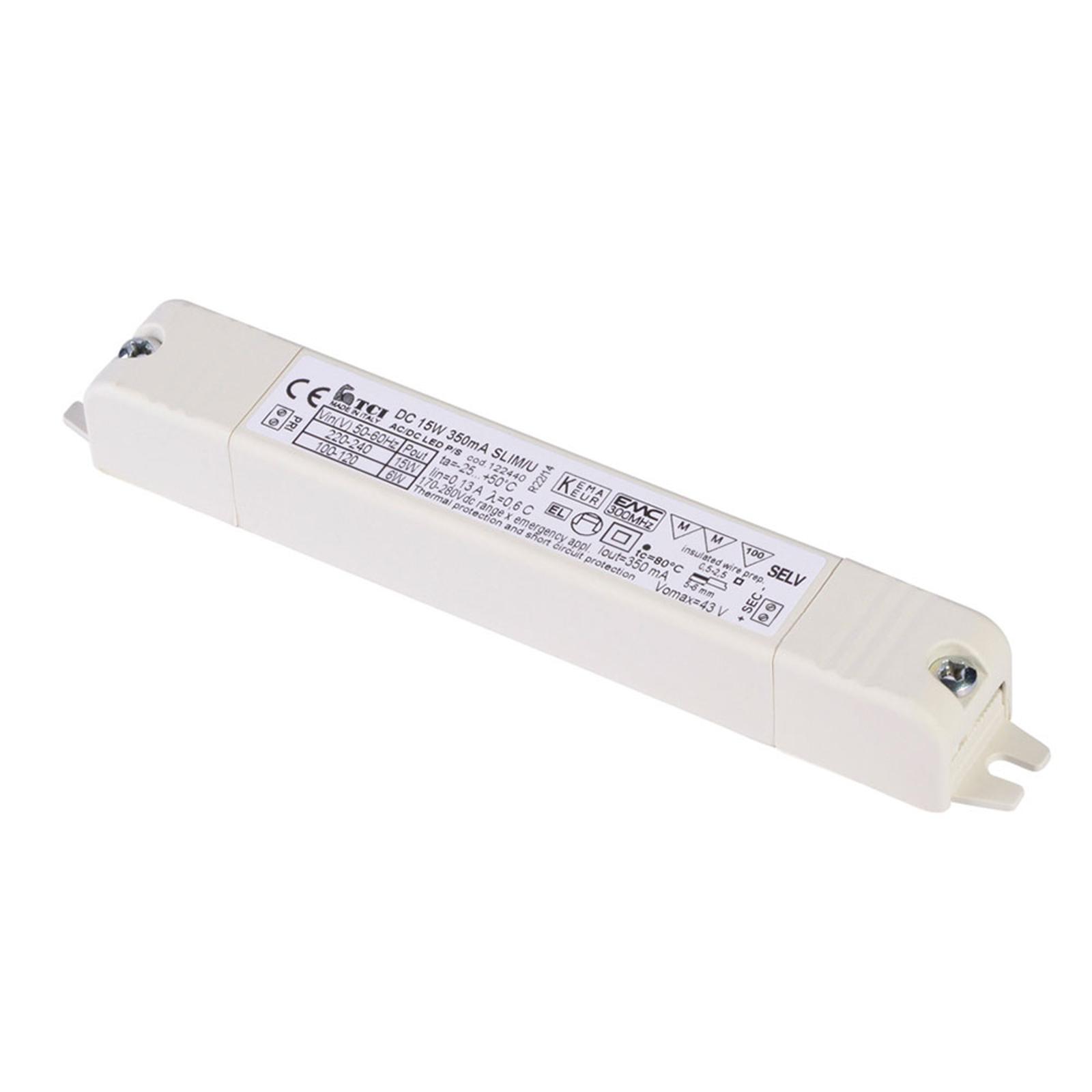 SLV LED-driver 350mA/15W med strekkavlastning