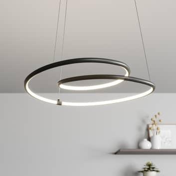 Lindby Lucy LED-riippuvalaisin, 45 cm, matta musta