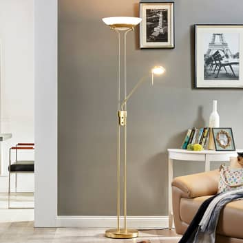Dimmbarer LED-Deckenfluter Yveta mit Leselicht