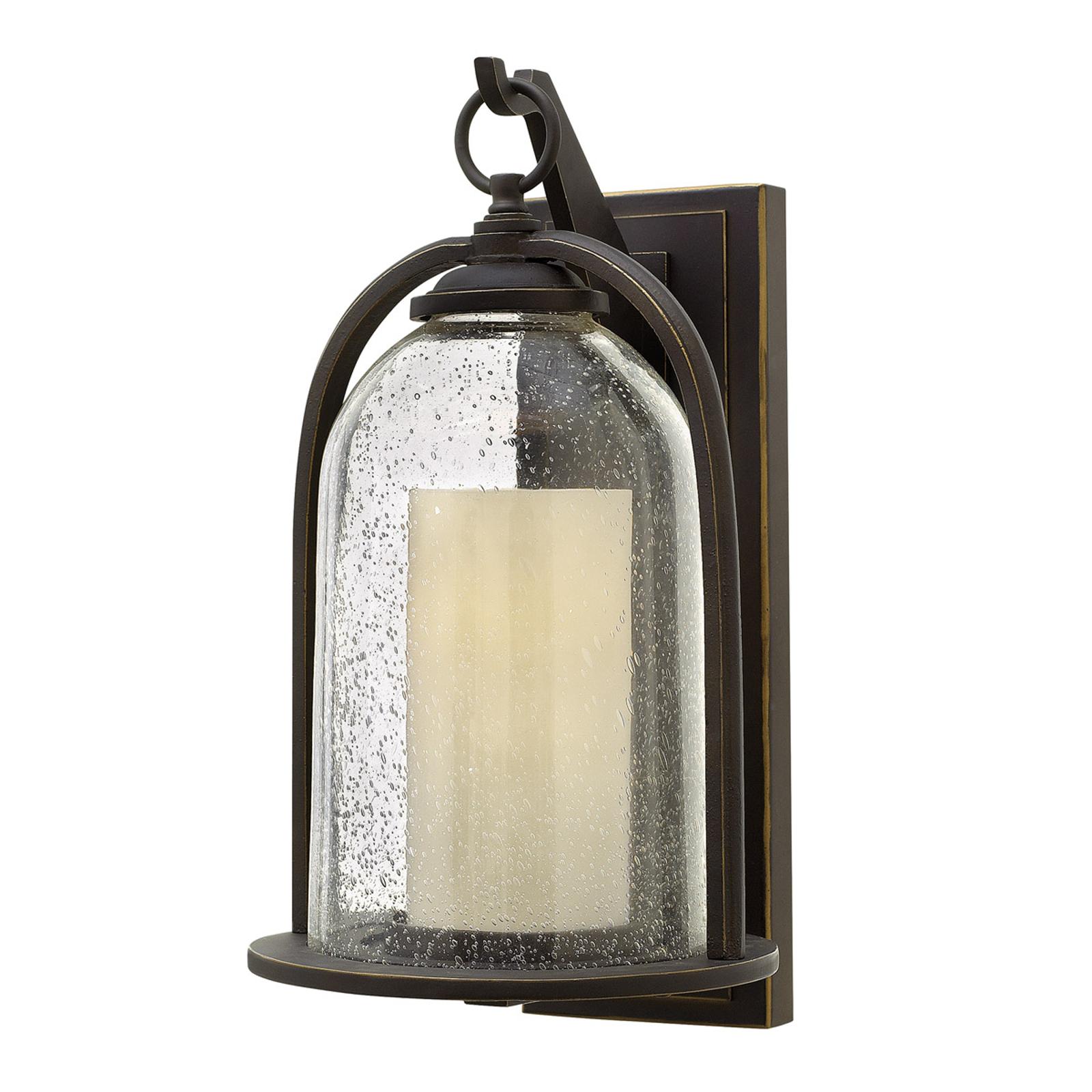 Wiejsko-rustykalna lampa zewnętrzna Quincy