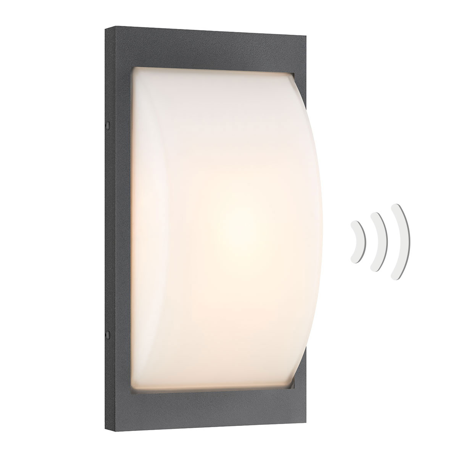 Sensor-buitenwandlamp 069SEN E27 grafiet