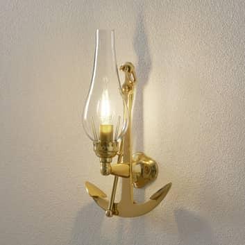 Wytworna lampa ścienna FISHERMEN z mosiądzu