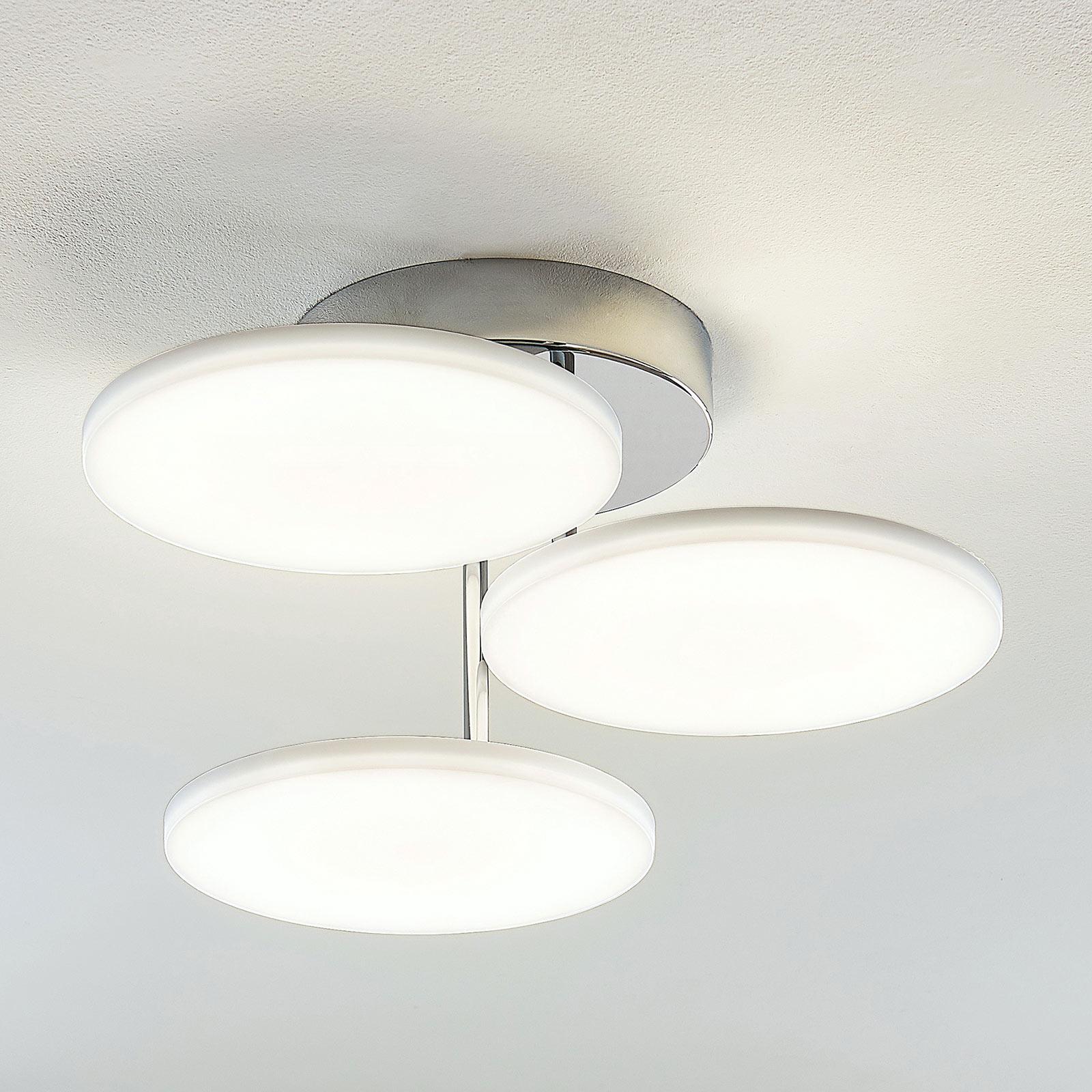 LED plafondlamp Sherko, dimbaar, 3-lamps