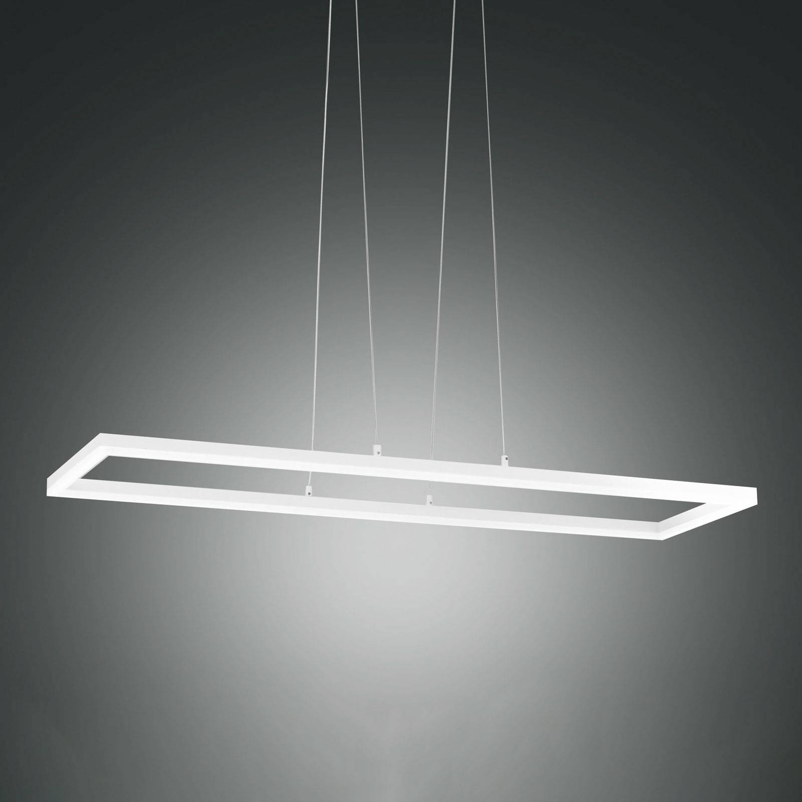 Suspension LED Bard 92x32cm en blanc