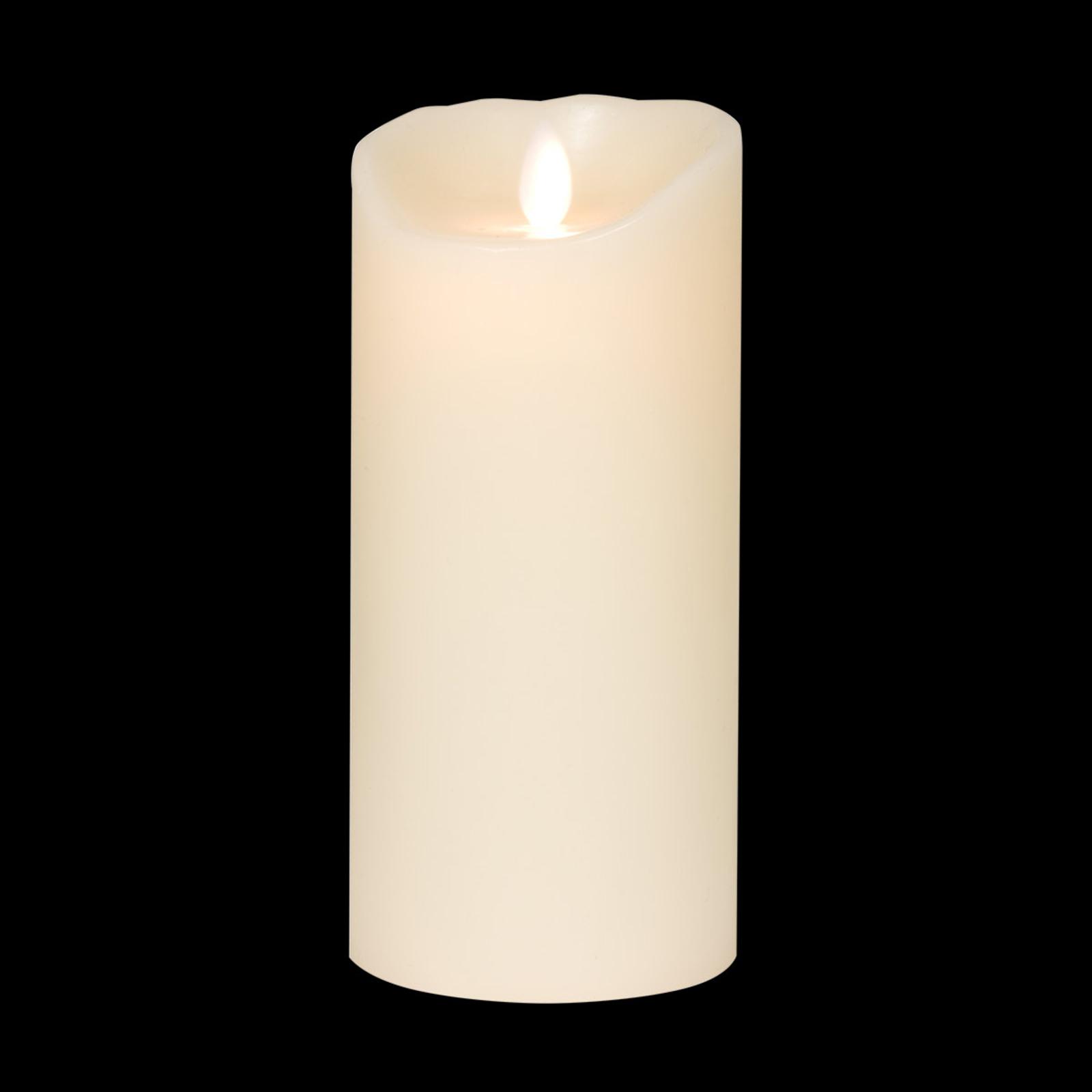 Led-kaars Flame, van echte was, 23 cm