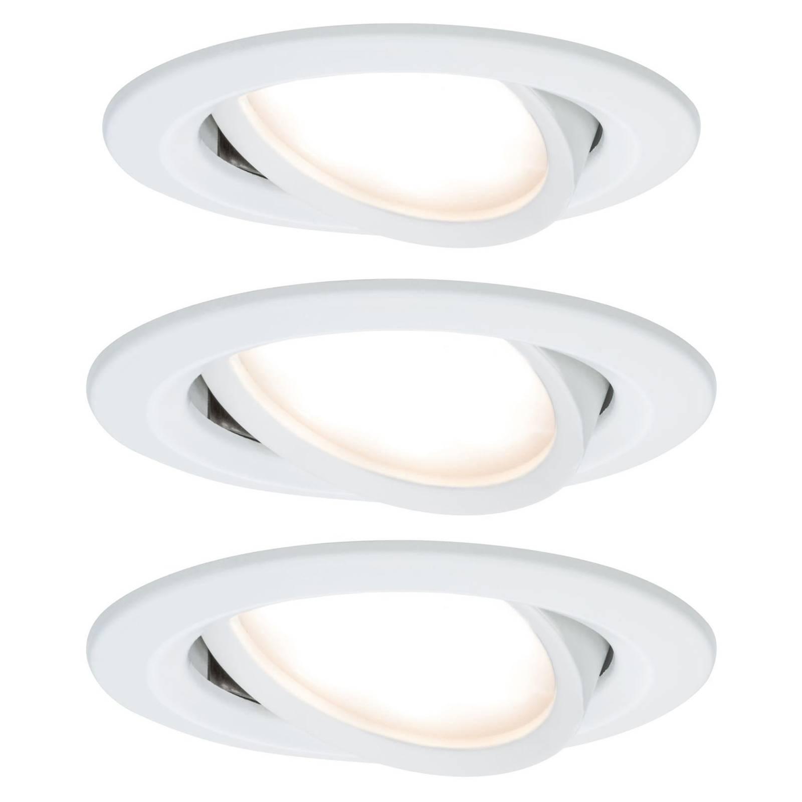 Paulmann Nova LED inbouwspot, gezwenkt, alu