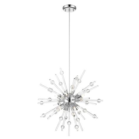 Lucande Kirai suspension en verre, à 8 lampes 54cm