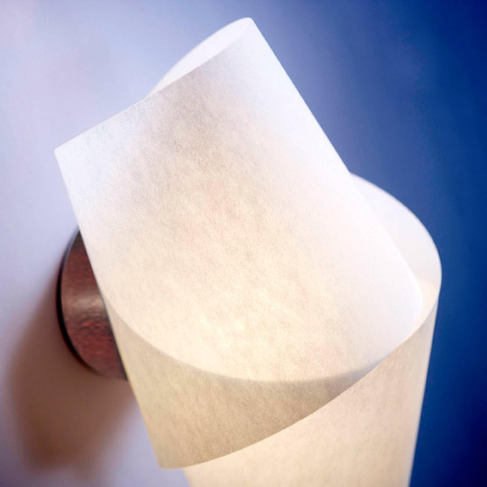 Fascinerende wandlamp Julii kastanje