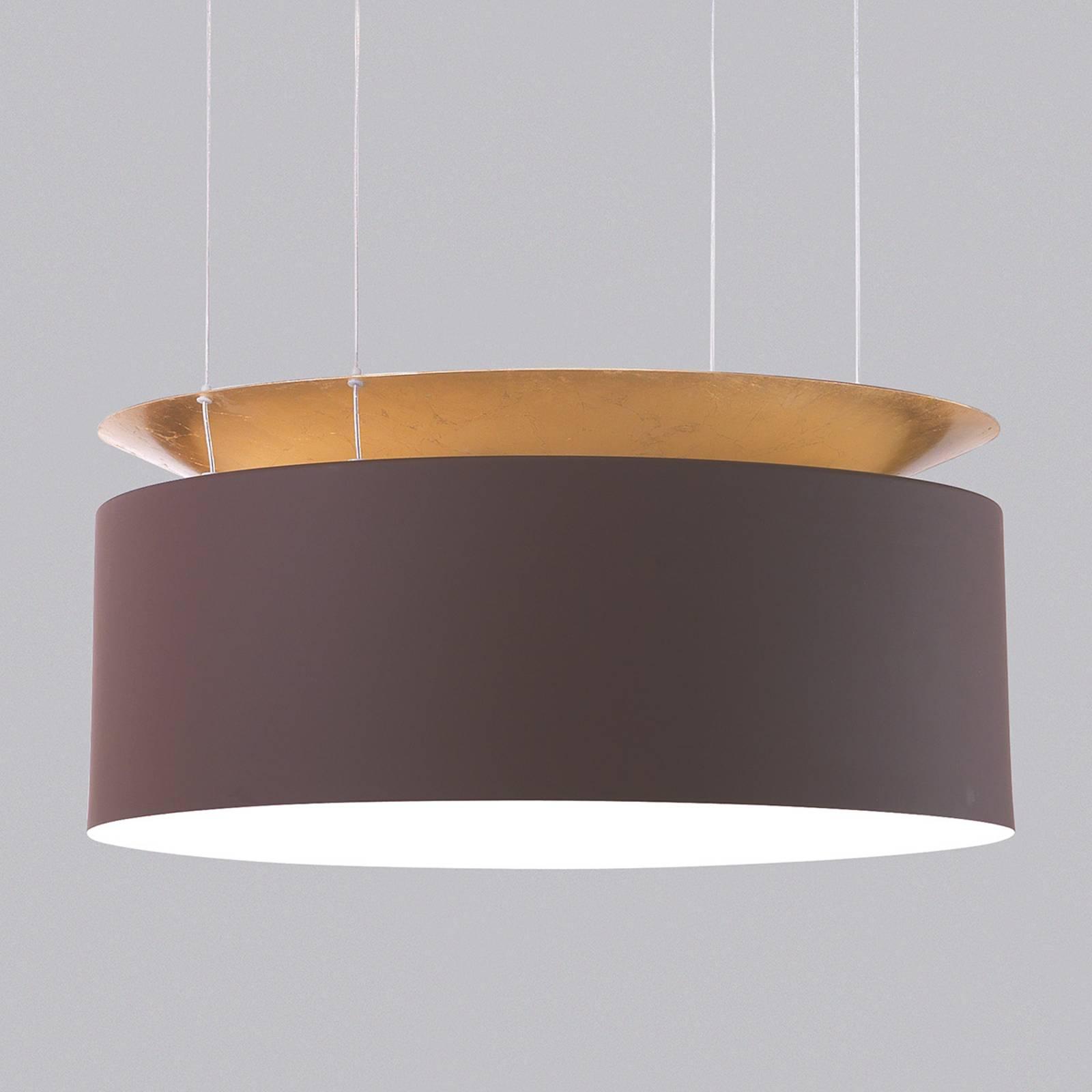 Goudbruine LED-hanglamp Eclisse