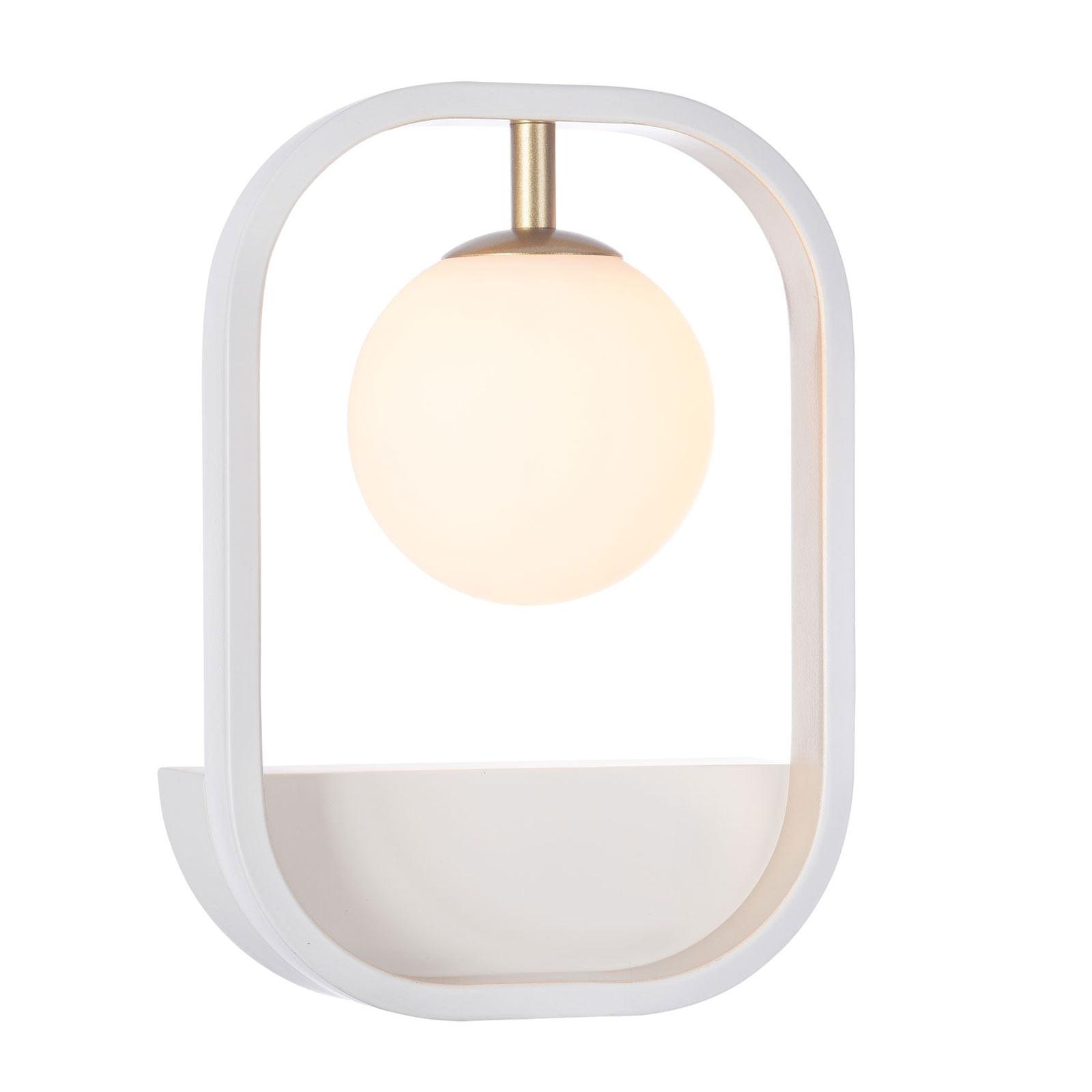 Wandlamp Avola met glasbol