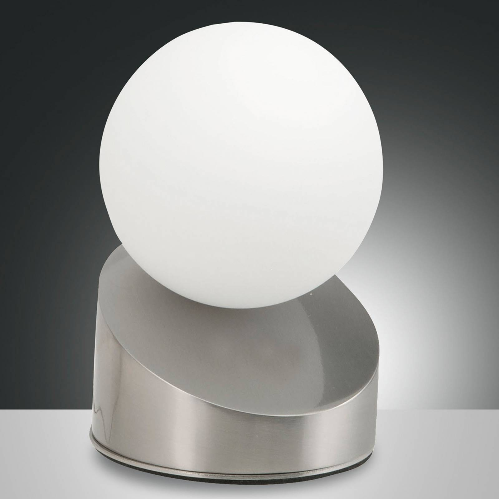 LED tafellamp Gravity, nikkel