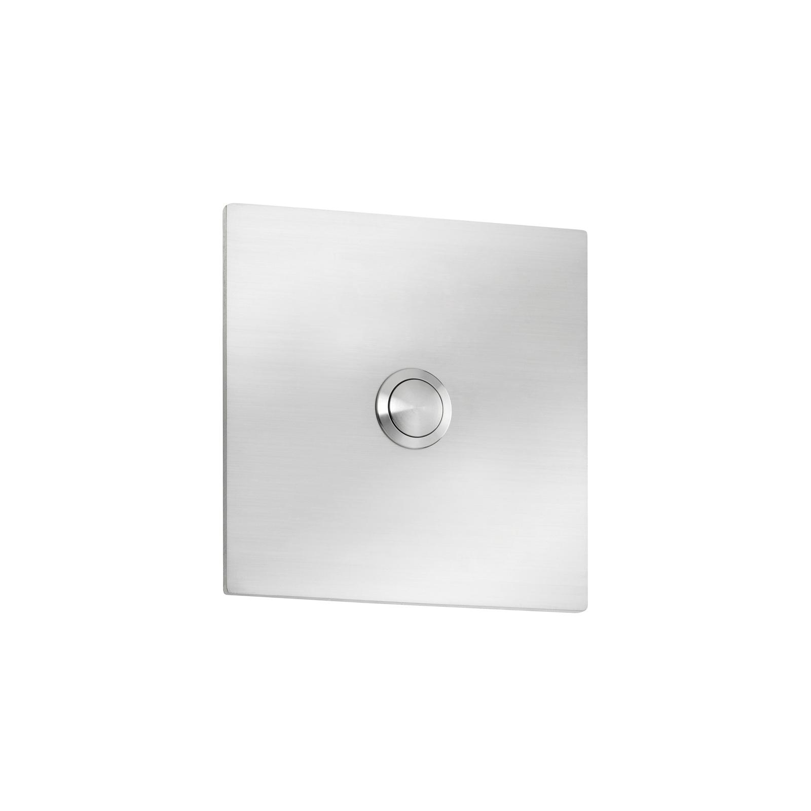 Eenvoudige belplaat Quadrat