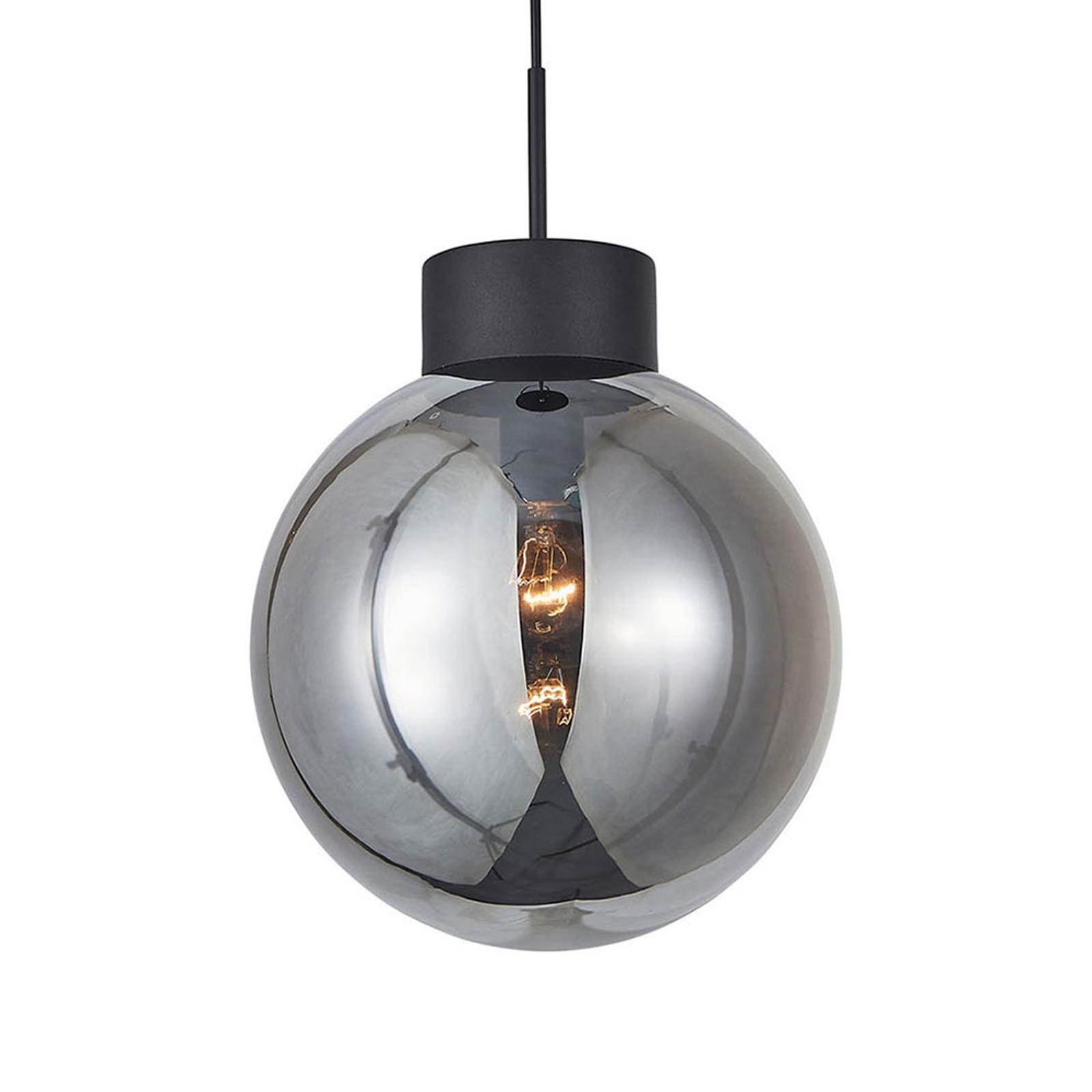 Hanglamp Astro, rookgrijze bolkap