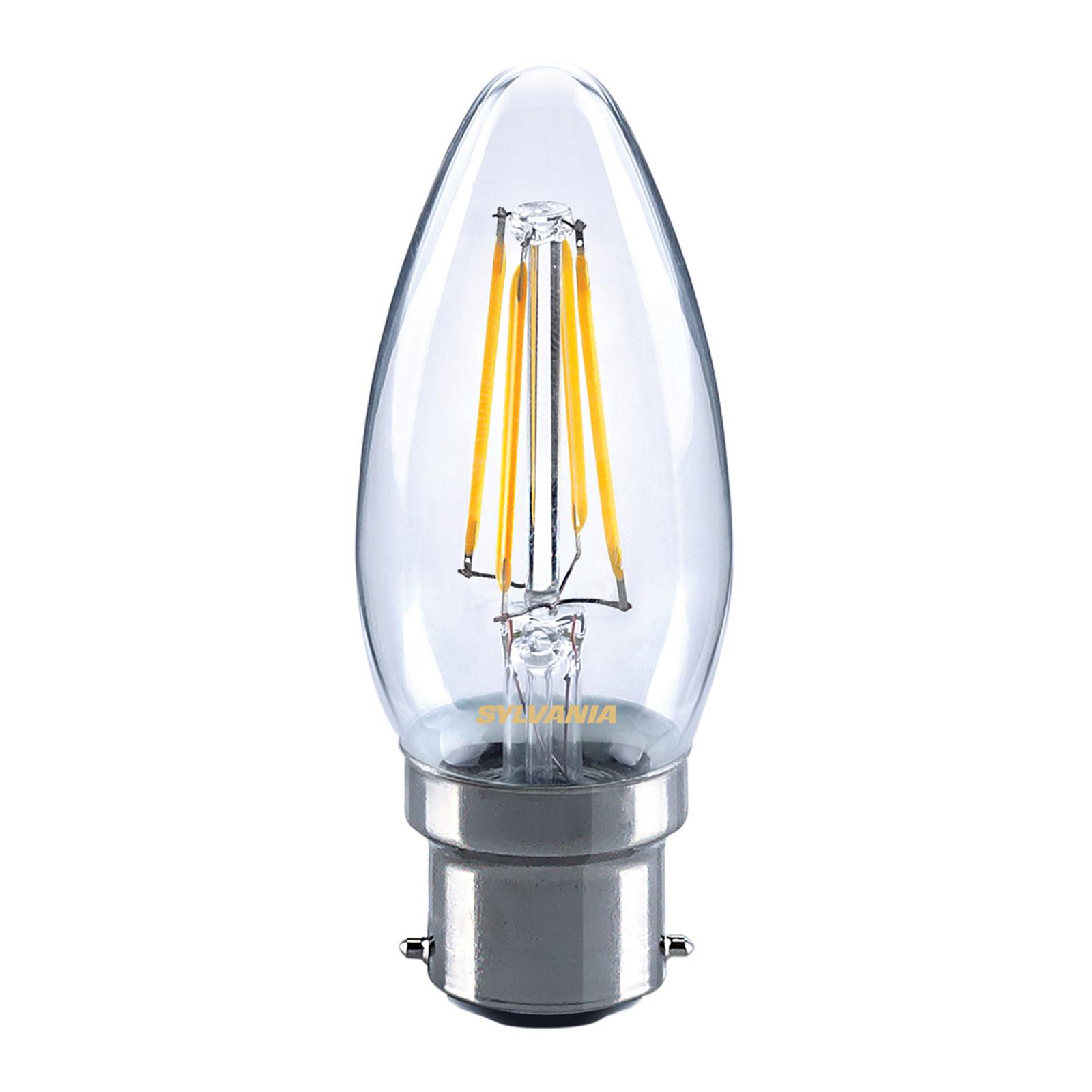 B22 4W 827 LED kertepære, klar