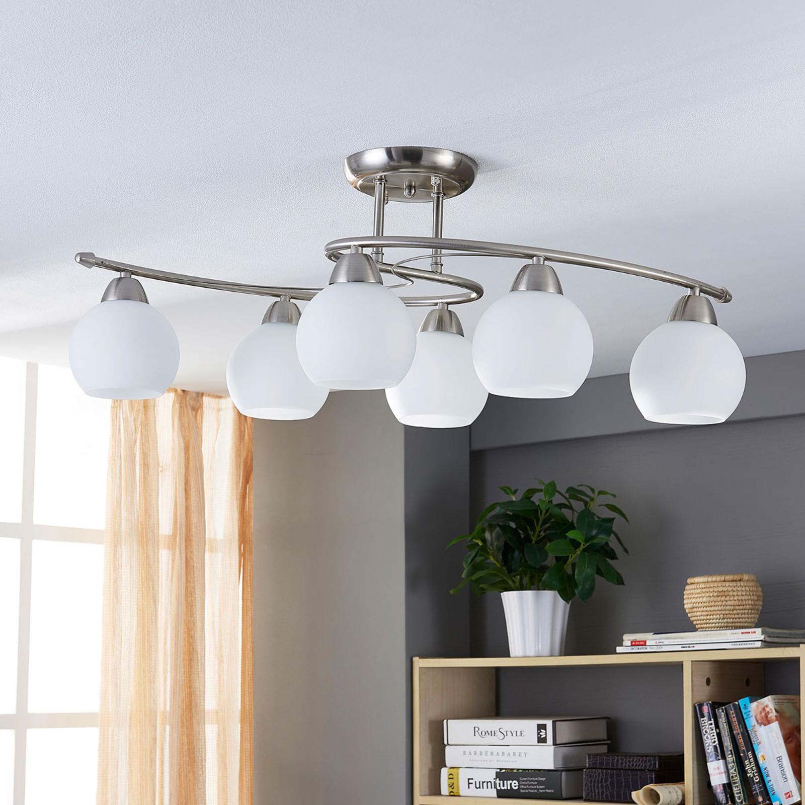 Dining Room Ceiling Light Svean 6 Bulbs Lights Co Uk
