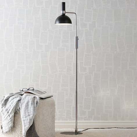 Gulvlampe Larry med moderne design og dreiedimmer