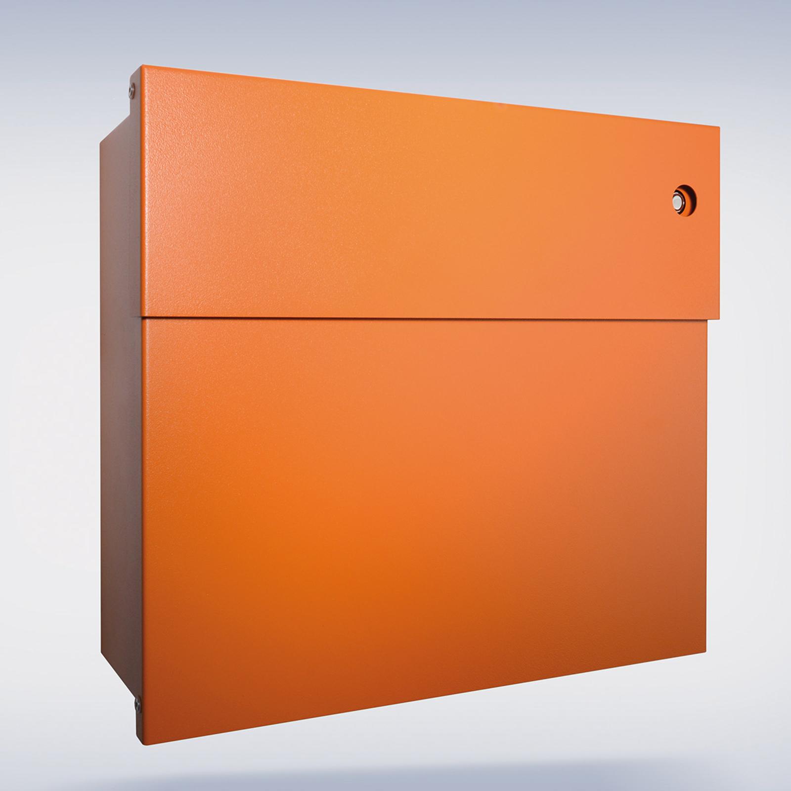 Boîte lettres Letterman IV, sonnette rouge, orange