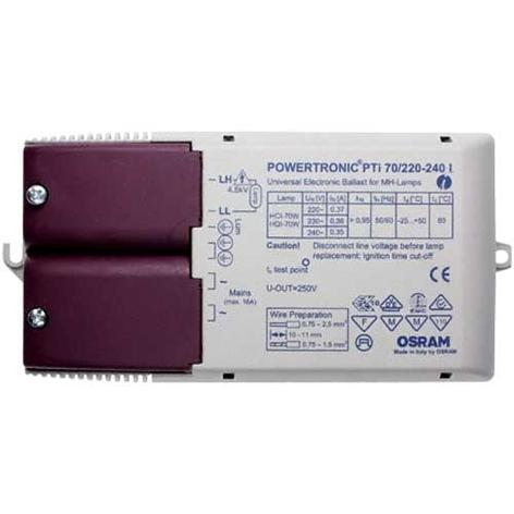 Elektroniskt förkopplingsdon PTi 70/220-240 I