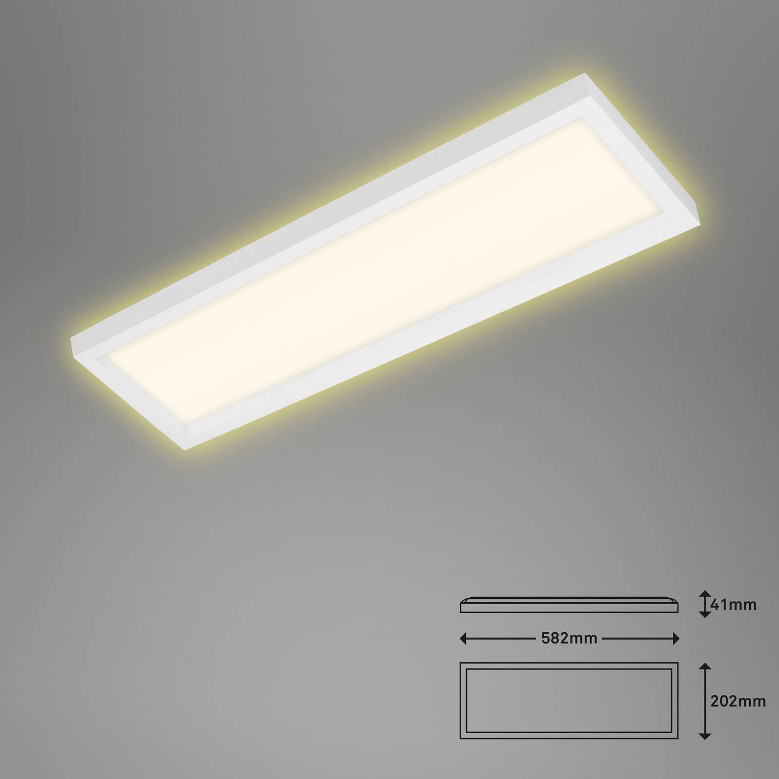 Lampa sufitowa LED 7365, 58 x 20 cm, biała
