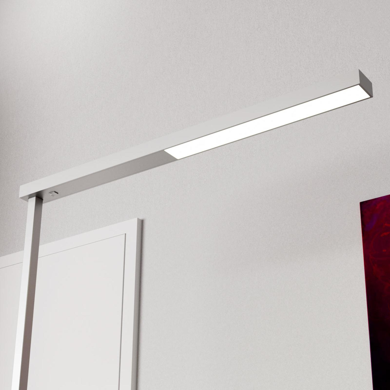 Lampada LED da terra per ufficio Tamilo, argento