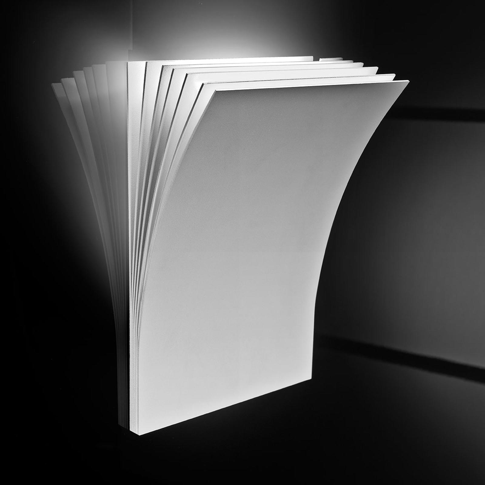 Vit vägglampa Polia med halogenbelysning
