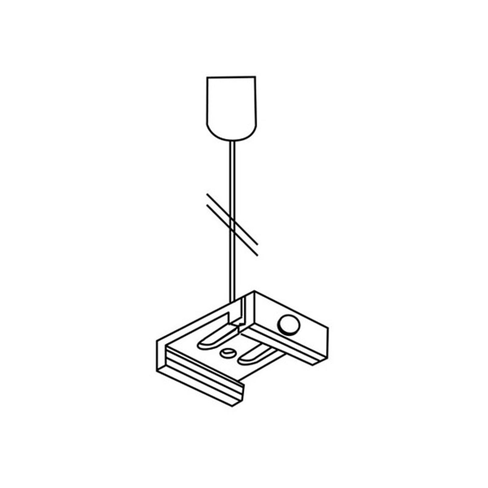 Abhängeset für 3-Phasen-Schiene Noa, 300cm grau