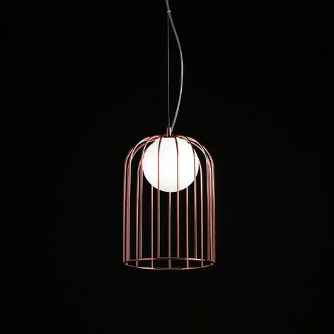 Piccola lampada a sospensione Kluvi color rame
