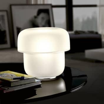 Prandina Mico T1 tafellamp, opaalglas, Ø 24 cm